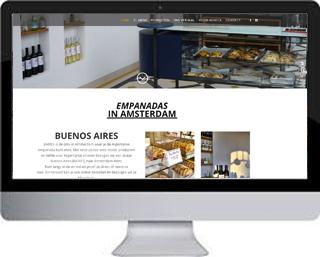 Horeca website BAIRES empanadas