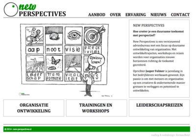 New-perspectives WordPress website