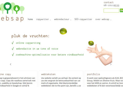 Websap webteksten