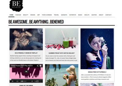 Benewed: WordPress magazine-blog