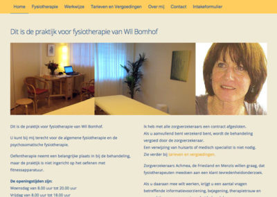 Fysiotherapie website