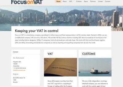 WordPress voorbeeld FocusonVAT