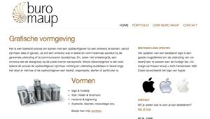 WordPress website buro Maup