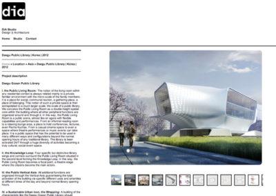 Dia studio – website architect