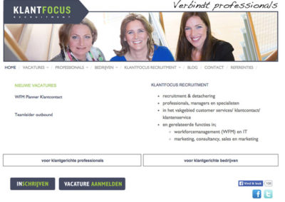 Klantfocus recruitment website