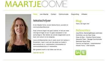 Maartje Oome tekstschrijver