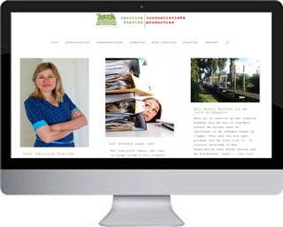 WordPress website Redacteur Caroline