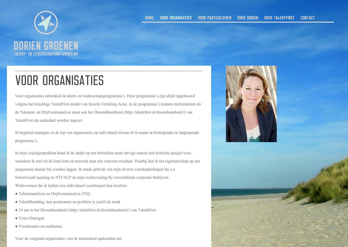 Groot beeld achtergrond wisselend WordPress website design