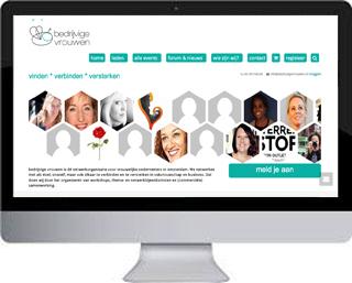 Een website voor bedrijvige vrouwen