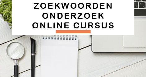 Zoekwoorden onderzoek online cursus