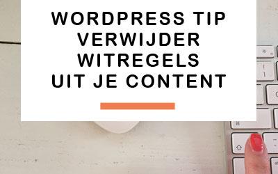 WordPress tip: naar de volgende regel zonder witregel
