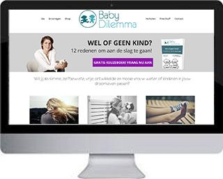 WordPress website Babydilemma