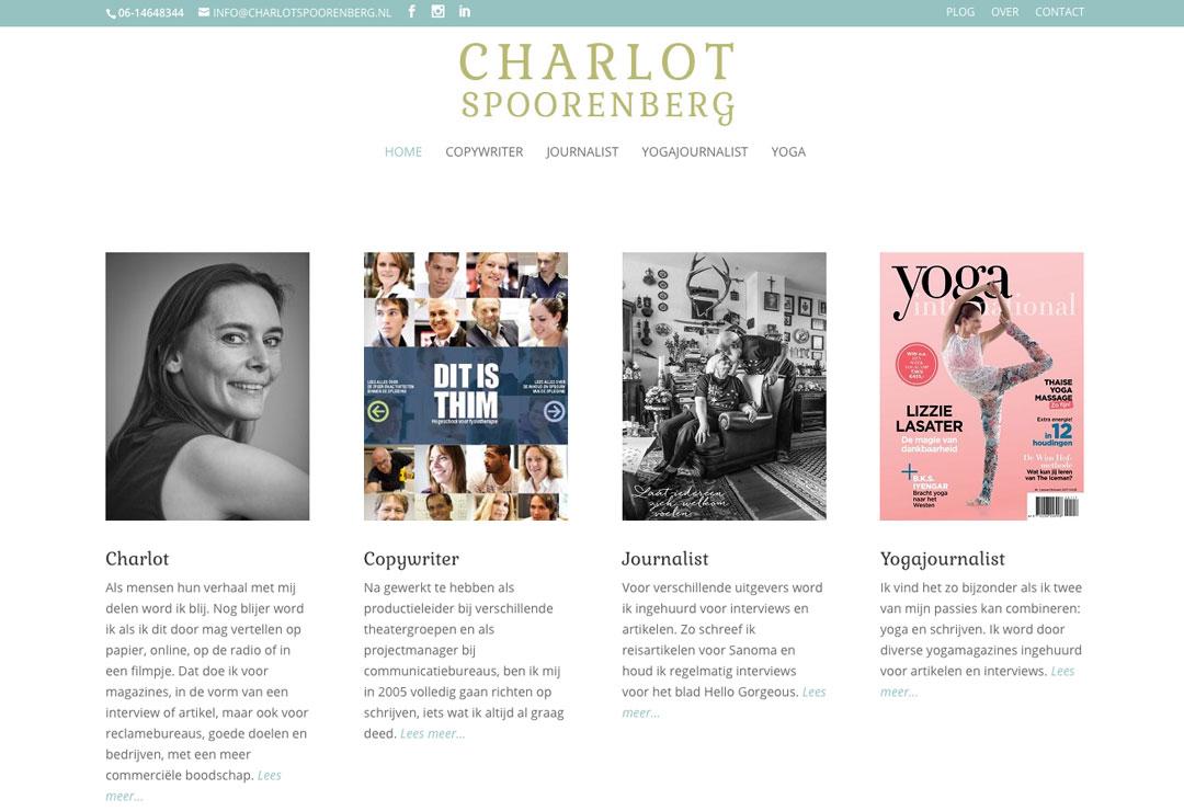 yoga schrijver wordpress website