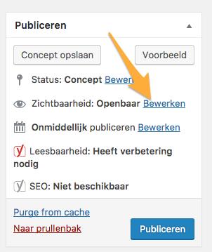 wordpress_pagina_beveiligen_wachtwoord_leden