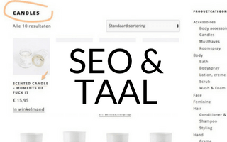 SEO tip: taalgebruik webshop – Nederlands of Engels