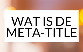 Meta-title of SEO-titel