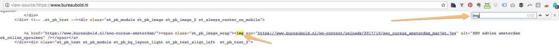 html image tag wordpress seo