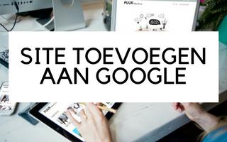 Website toevoegen aan Google