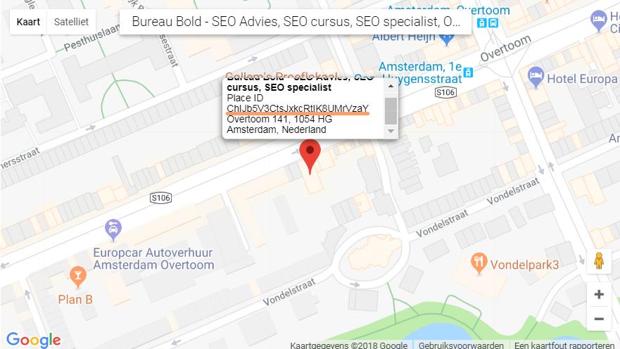 locatie link google placeid review link