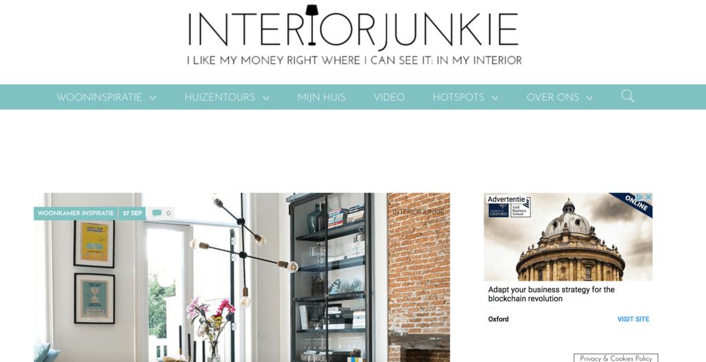 succesvolle blogs voorbeelden interiorjunkie