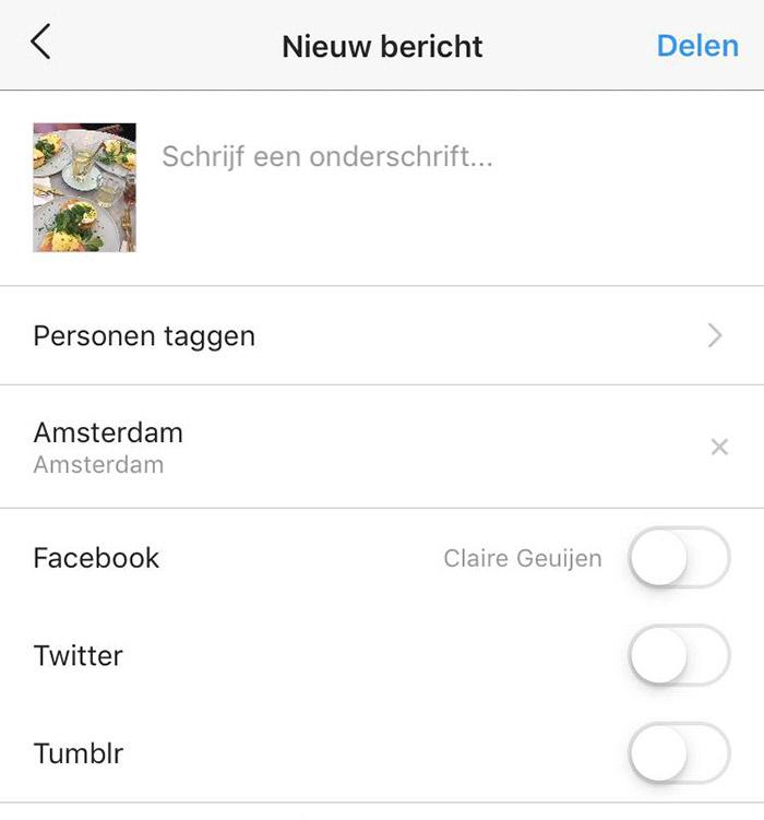 Instagram koppelen aan Facebook