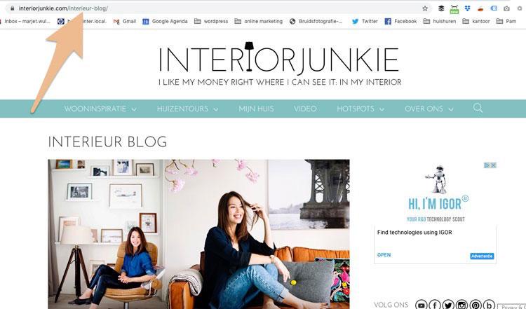 blog vindbaar in google interieur