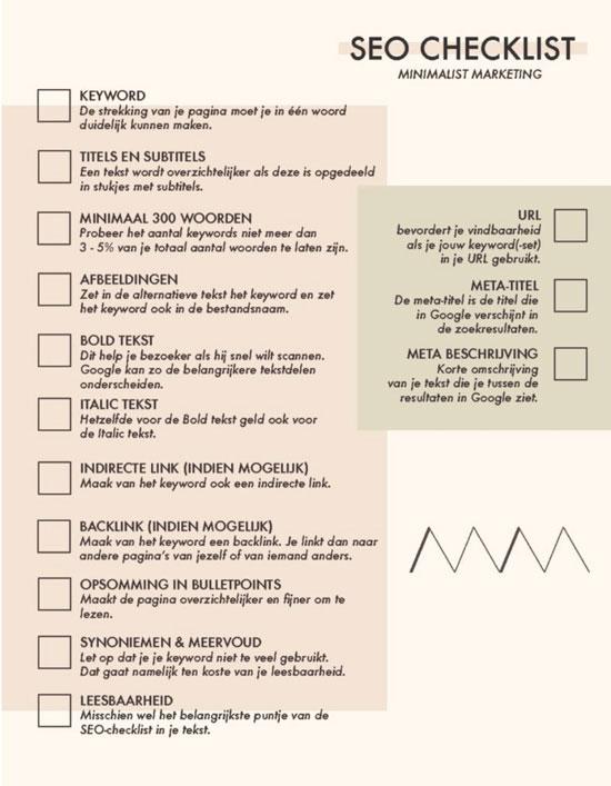 SEO checklist pdf handout
