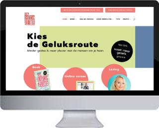 Voorbeeld wordpress website De Geluksroute