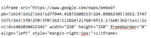 google maps iframe embed margin witruimte