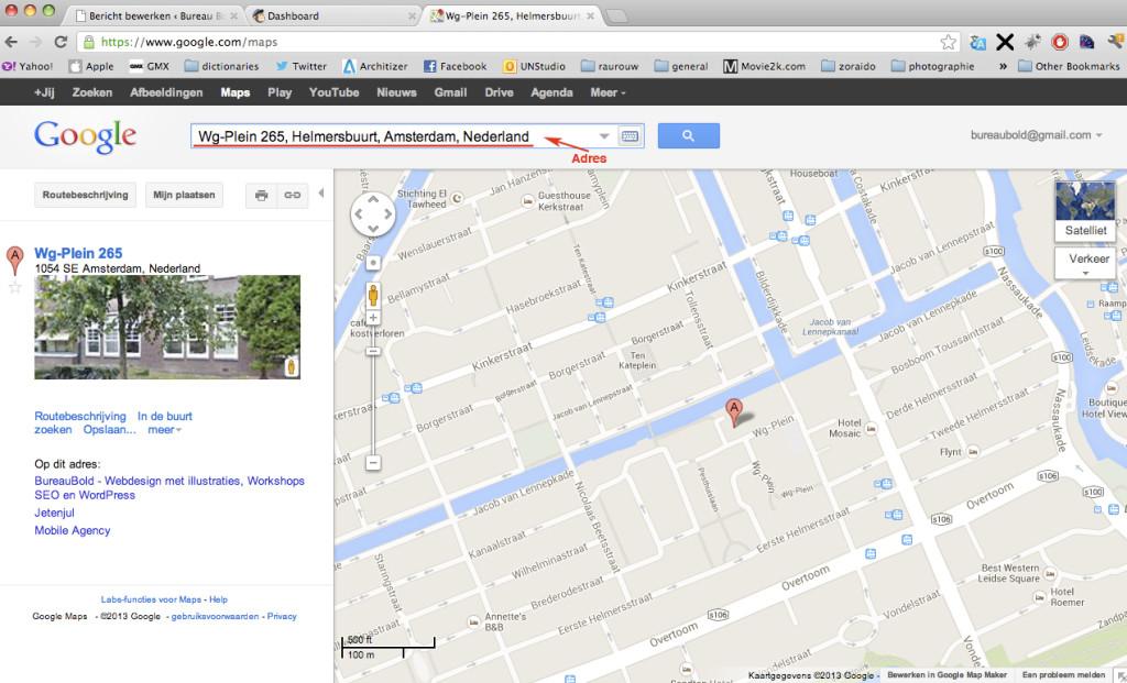 blog how to google maps locatie