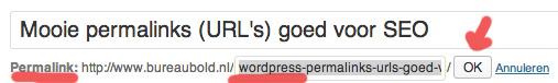 Mooie permalinks url 39 s goed voor seo seo cursus amsterdam wordpress cursus webdevelopment - Geldt bold ...