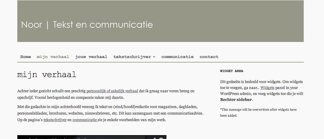 WordPress sidebar inhoud leeg